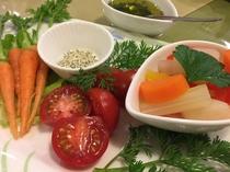 採れたて野菜と自家製ピクルス