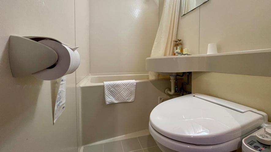 客室のお手洗い(ユニットバス)