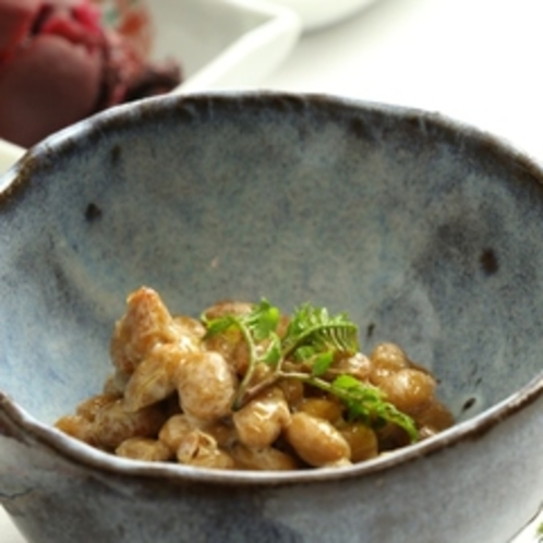 朝食-納豆