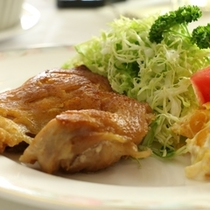 夕食-カリカリチキン