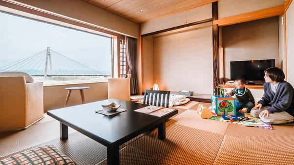 ■<豆陽亭>ウエルカムベビーの客室 露天風呂付和室