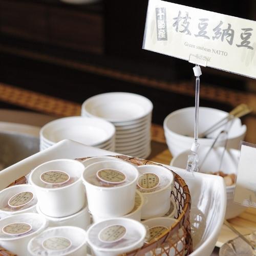 ■朝食ビュッフェ 枝豆納豆