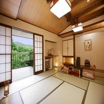 和室12畳間一例・「朝霧の間」(2階のお部屋)冬は堀こたつが入ります