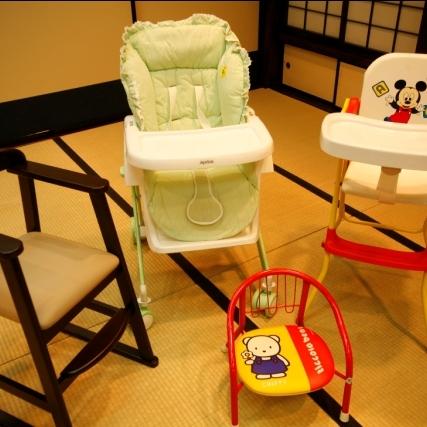 お子様の椅子もご準備してます