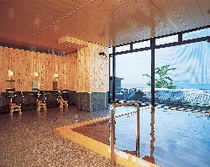 """木曽産の椹を使った木の大浴場""""五十鈴""""ーいすずー"""