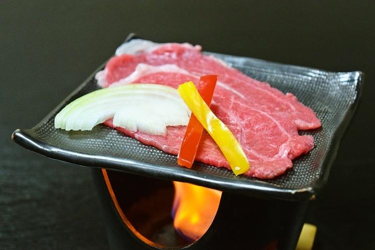 米沢牛の陶板焼き