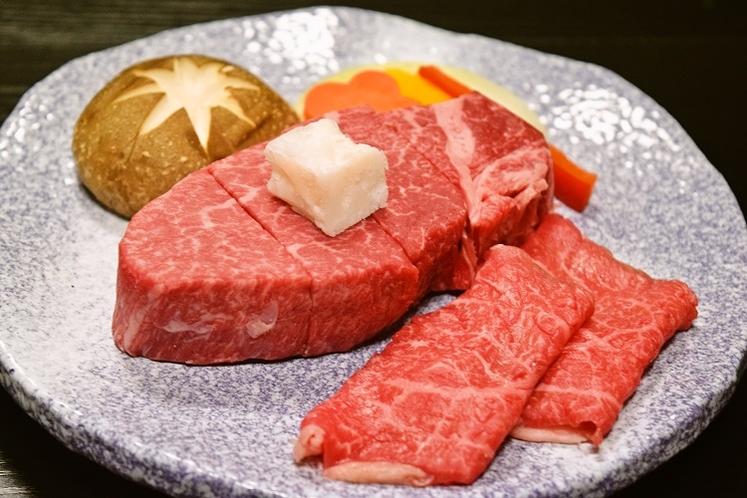米沢牛のステーキ&焼肉 (肉三昧プラン)
