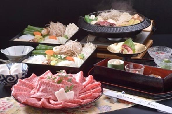 花かんざし名物国産牛すき焼きでワイワイ♪たっぷりお肉とお野菜の京風すき焼き♪