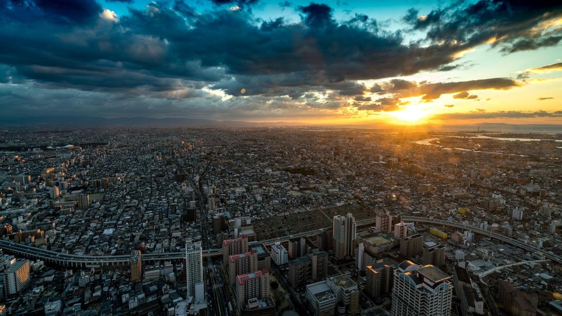 *【周辺観光】あべのハルカスから大阪の街を一望!