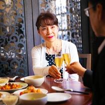 館内レストランならお食事の後もゆったりと滞在時間をご満喫いただけます。