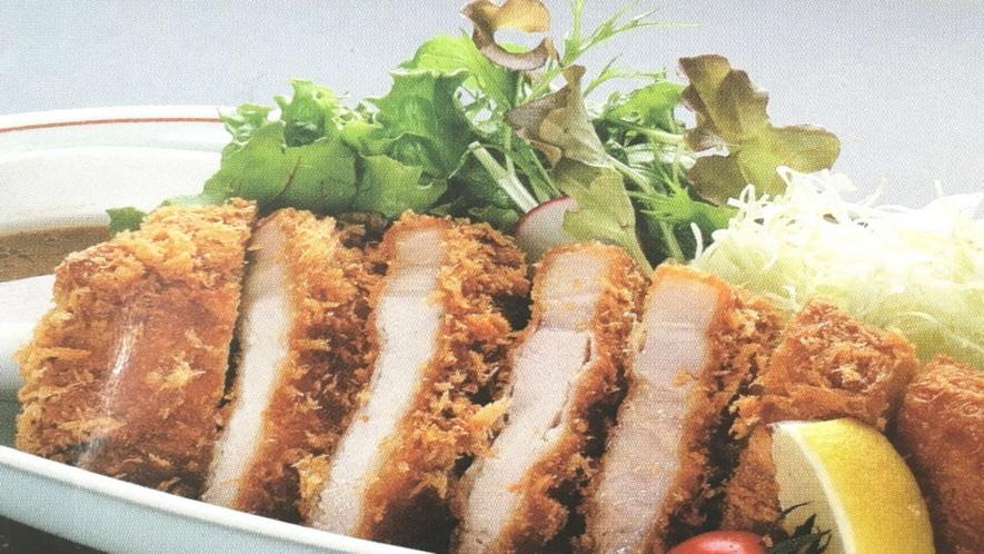 地養豚カツ定食(夕食付プラン)