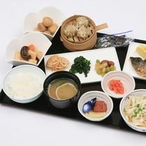 和食の盛り付けの一例