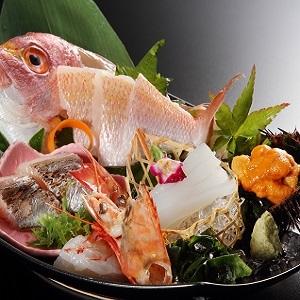 【お造り:日本海鮮魚5種盛り(イメージ)】