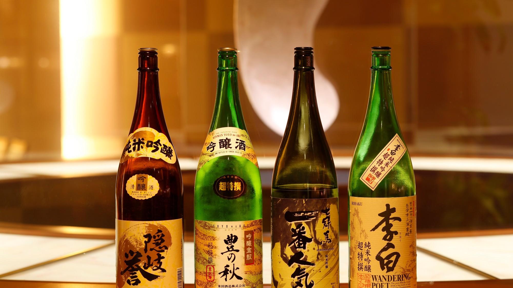 地元酒蔵で作られた地酒を中心に幅広くご用意してます。【和風ダイニング「出雲」】