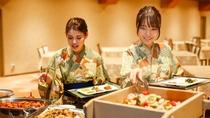 【朝食バイキング(イメージ)】  和食から洋食まで、好みの品を好きなだけ。