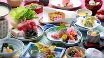 名物しじみと和牛鍋の他、日本海の新鮮なお造りなど旬彩をご用意しております。【春の彩り会席】
