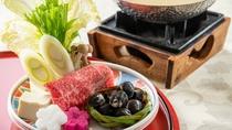 松乃湯特製「しじみと和牛鍋」。しじみと和牛のコラボが大人気です。