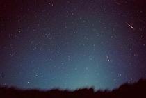 牧草地からの星空