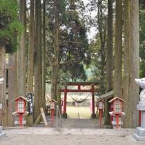 <和気神社>猪は清麻呂公の随身、また足腰の守護として崇められています。
