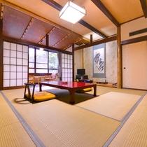 *和室10畳(バス・トイレ付)/田園風景を眺めながらのんびりとお寛ぎ下さい。