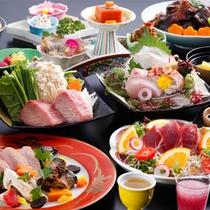 【秋限定】秋の味覚鉄板焼きと料理長イチオシ魚のアラ煮の逸品会席(一例)