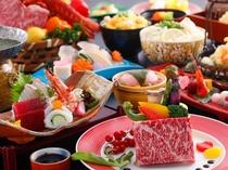 【レストラン/特選会席】メインの鉄板焼は牛ロース又はロブスターからチョイス~(一例)