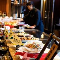 """【朝食バイキング】オープンキッチンで調理した""""出来立て""""を――"""