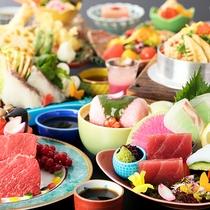 【レストランゐきり◆基本会席】「牛肉or鯛」のいずれかをメインに♪