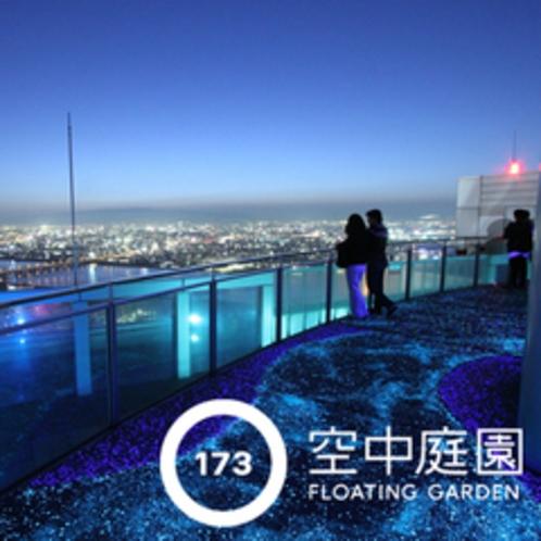 空中庭園展望台から望むパノラマ夜景