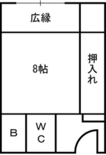 本館和室8畳平面図