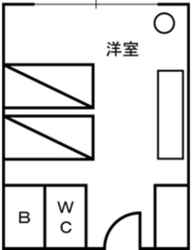 本館洋室平面図