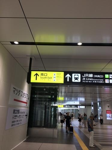 広島駅南北通路案内・南口にホテルがあります