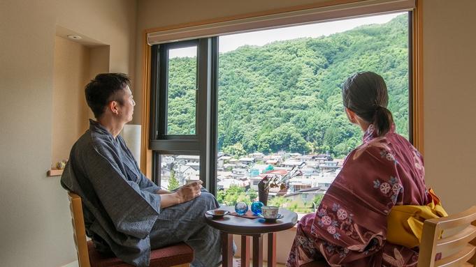 【カップルプラン】大人のロマンス旅。歴史情緒と季節グルメ満載の木曽福島を、華やか色浴衣でお散歩