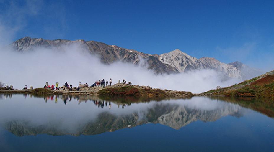 夏季 八方池(三山)