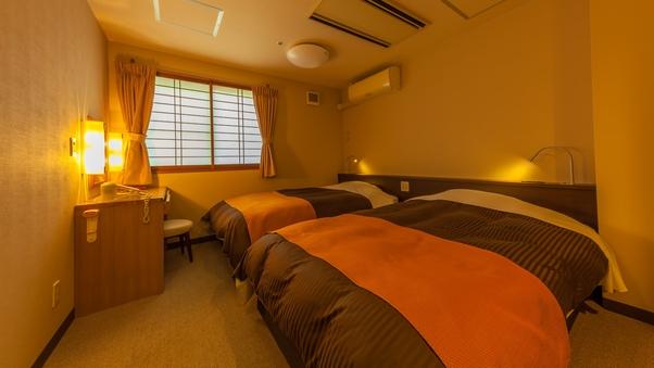 【眺望無し】小さめ洋室ツインベッドルーム(15平米)