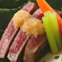 【お料理一例 『谷の茶屋』かまど料理】「かまど」ならではの火入れが、素材の美味しさを引き出します。