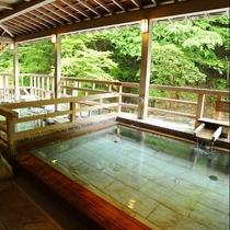 ■四万川の湯■趣の異なる『内湯』、『中の湯』、『庭園風呂』の3つの浴槽を備えております。