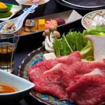 ■上州牛すき焼き会席■群馬県ブランド肉として名高い「上州牛」を使用したすき焼き会席