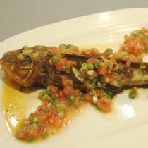 古橋亭の魚料理1