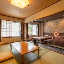 和洋室8畳+ツインベッド(風呂無)