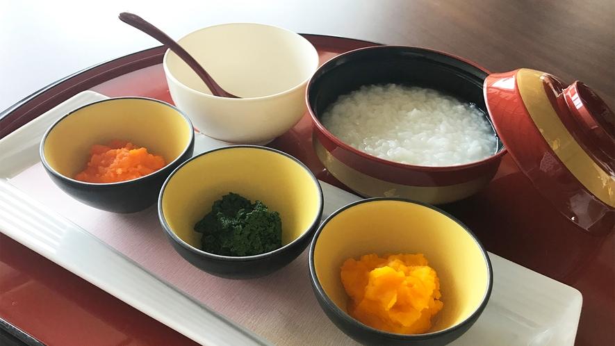 【離乳食/ペースト状】550円税込(おかゆ・温野菜3品) ※2日前迄要予約
