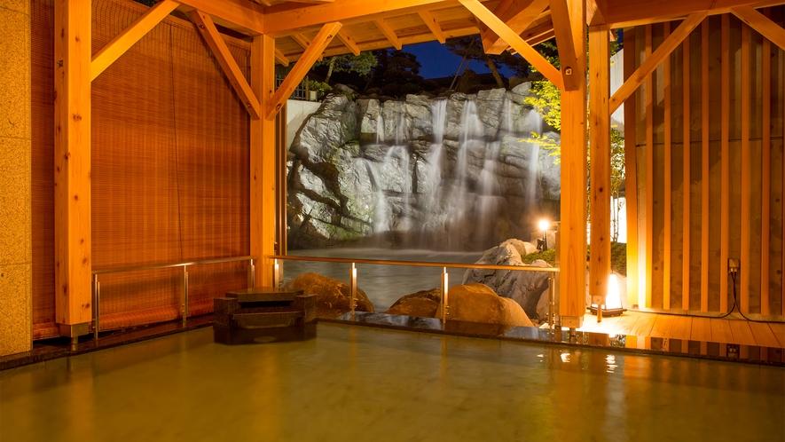 【大浴場】滝見露天風呂 ※写真は女湯