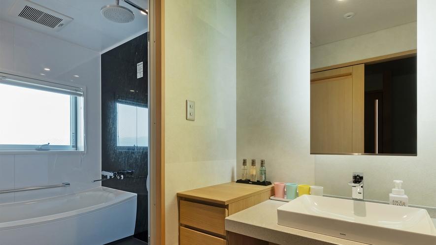 【2020年new】和モダン12畳ツイン 45㎡(一例)※レインシャワーのバスルーム