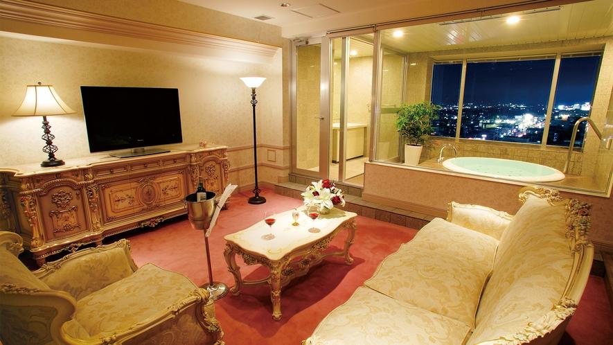 【デラックス】ジャグジー風呂付き和洋室(一例)