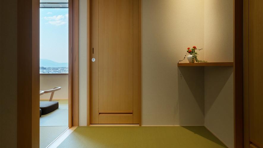 【2020年new】和モダン12畳ツイン シャワー(一例)。廊下(約3畳)も畳敷きで心地いいです