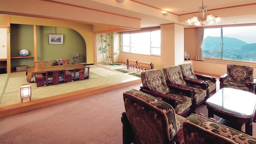 【特別貴賓室「琥珀」】客室最上階エグゼクティブフロアの特別貴賓室。