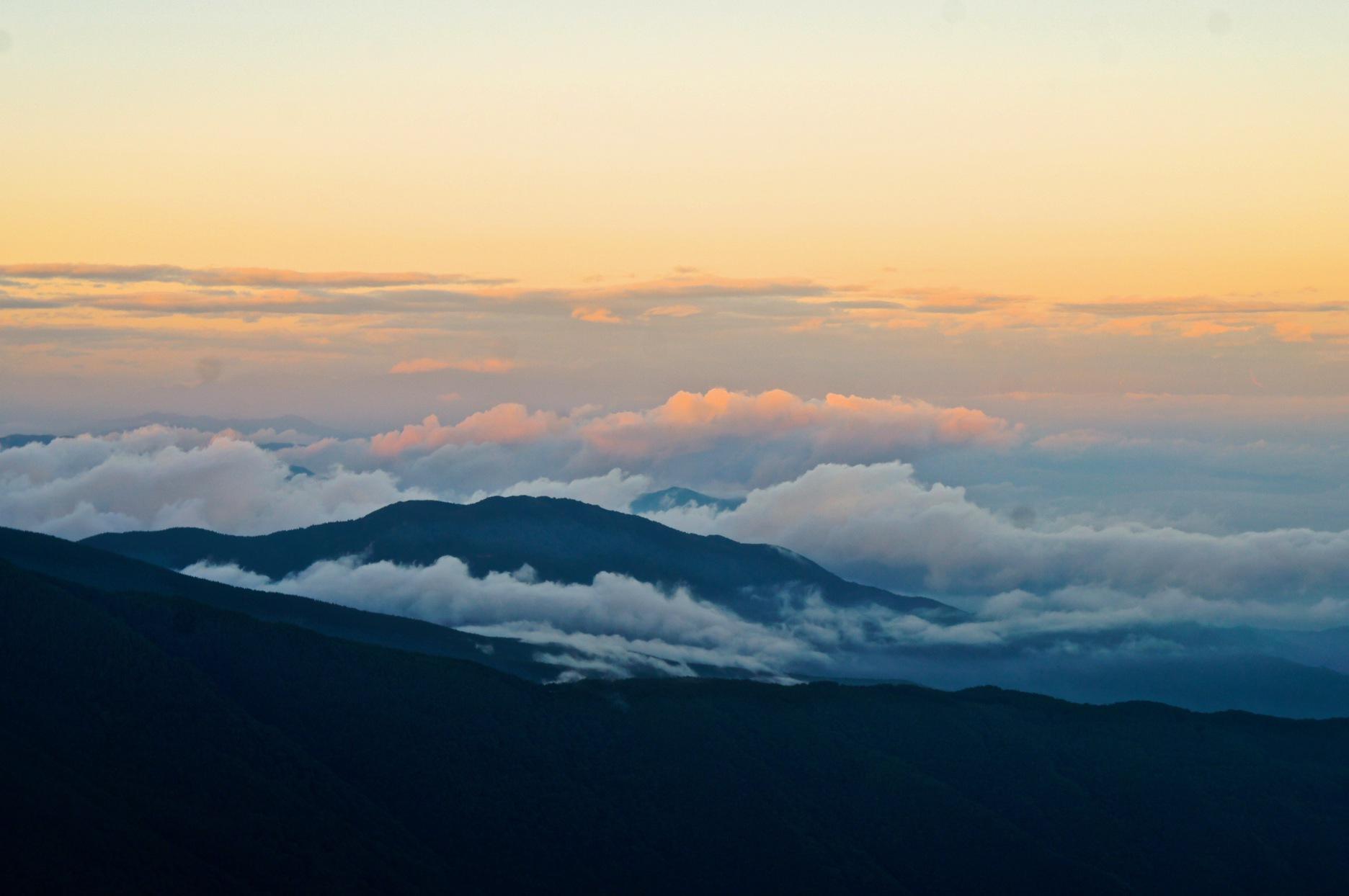 笠岳 雲海
