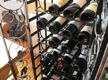 ワインラックの赤ワイン