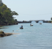 《小木の風景》 矢島経島とたらい舟