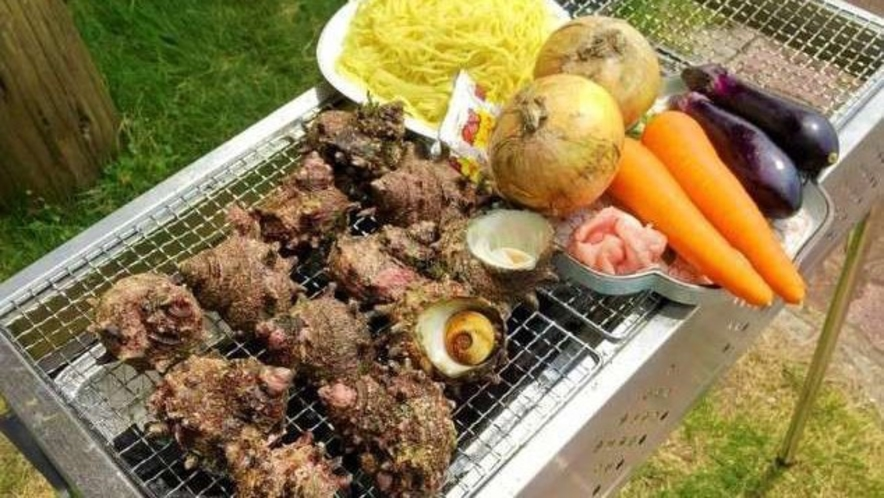 地産の海産物や地野菜のバーベキューはいかがですか?